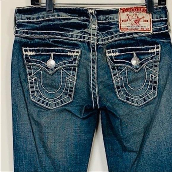 True Religion Denim - True Religion Joey T-stitched Twist Seam Jeans